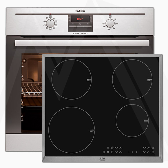 aeg set herdset einbau backofen be3013020m induktions kochfeld hk634200x b ebay. Black Bedroom Furniture Sets. Home Design Ideas