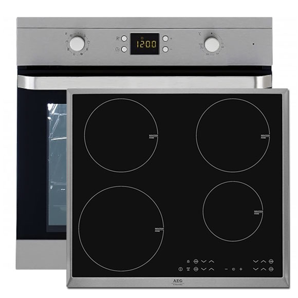 backofen set autark backherd teleskopauszug aeg ceran induktions kochfeld neu ebay. Black Bedroom Furniture Sets. Home Design Ideas