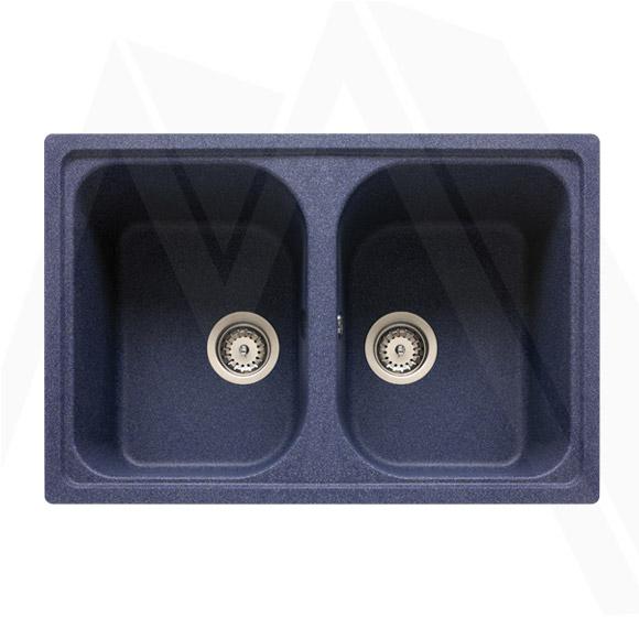 granitsp le teka granit sp le blau doppelbeckensp le einbausp le sp lbecken ebay. Black Bedroom Furniture Sets. Home Design Ideas