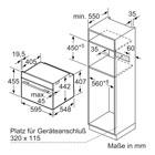 Masskizze Bosch Einbau Kompaktdampfbackofen CSG636BS1