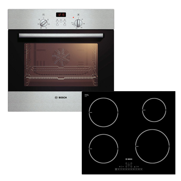 bosch einbaubackofen induktionskochfeld herdset autark 60cm backofen. Black Bedroom Furniture Sets. Home Design Ideas
