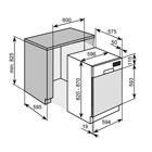 Masskizze Einbau Geschirrspüler integrierbar  LCD Display