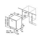 Masskizze Bosch Geschirrspüler SMV53L30EU 60cm vollintegrierbar