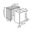 Masskizze Kolbe Einbau Geschirrspüler GS63VI  60cm Vollintegriert  A+++